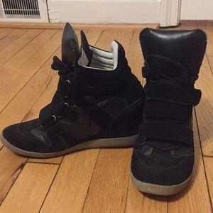 Steve Madden wedge sneaker booties